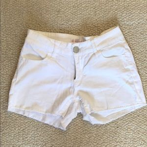 No Boundaries White Jean Shorts